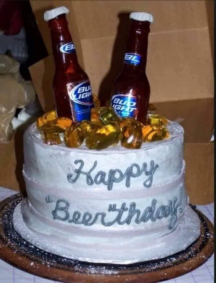 Картинка с днем рождения с пивом, днями недели