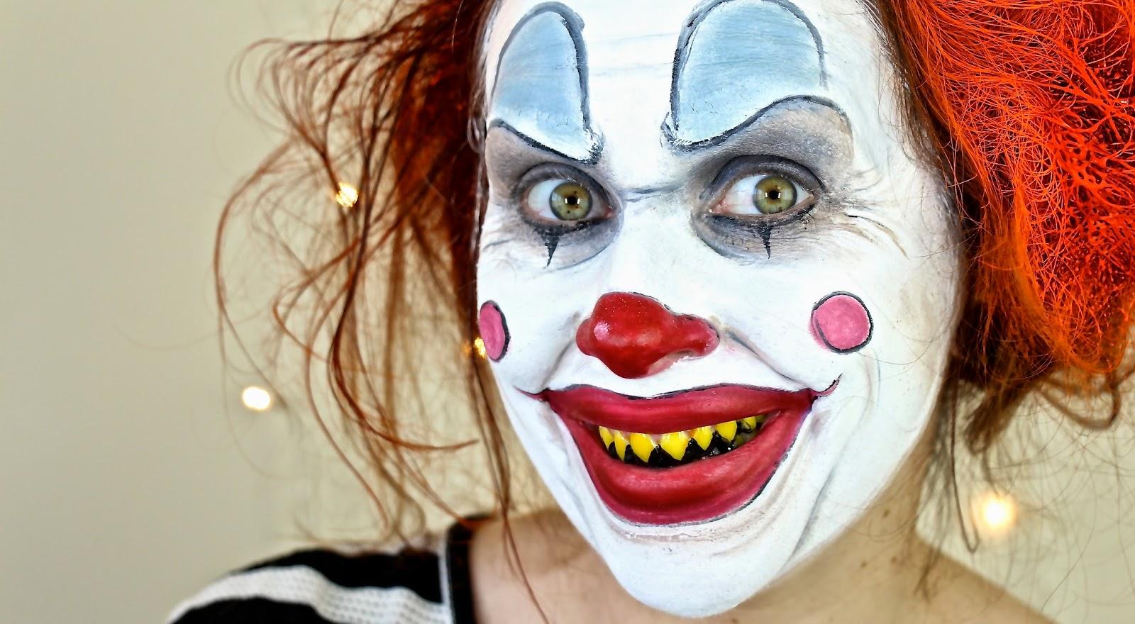 картинки грима клоуна можно
