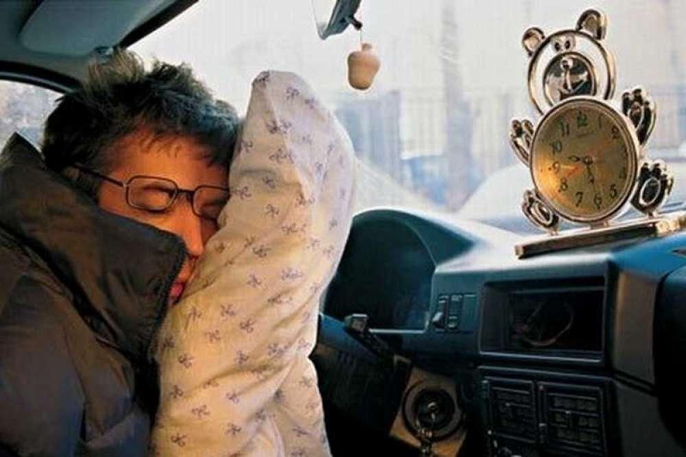 смешные фотографии водителей спящих изменены